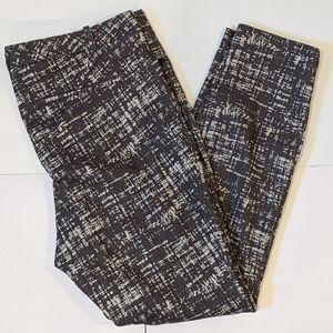 Calvin Klein grey pattern skinny pants sz 14